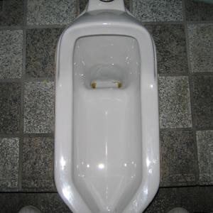 和式便器内の尿石を除去